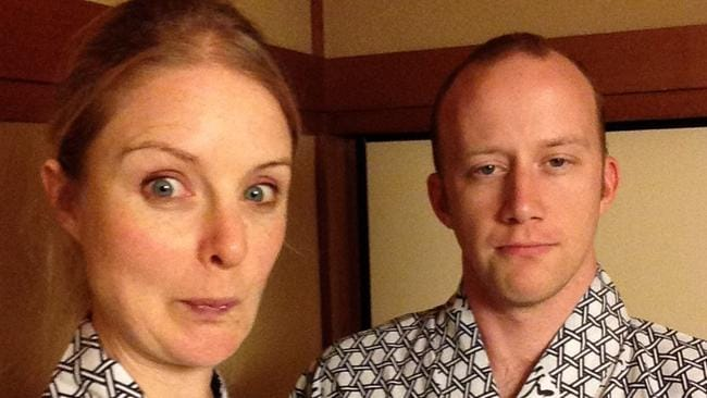 Alice Williams and her boyfriend take on Japan. Picture: Alice Williams.
