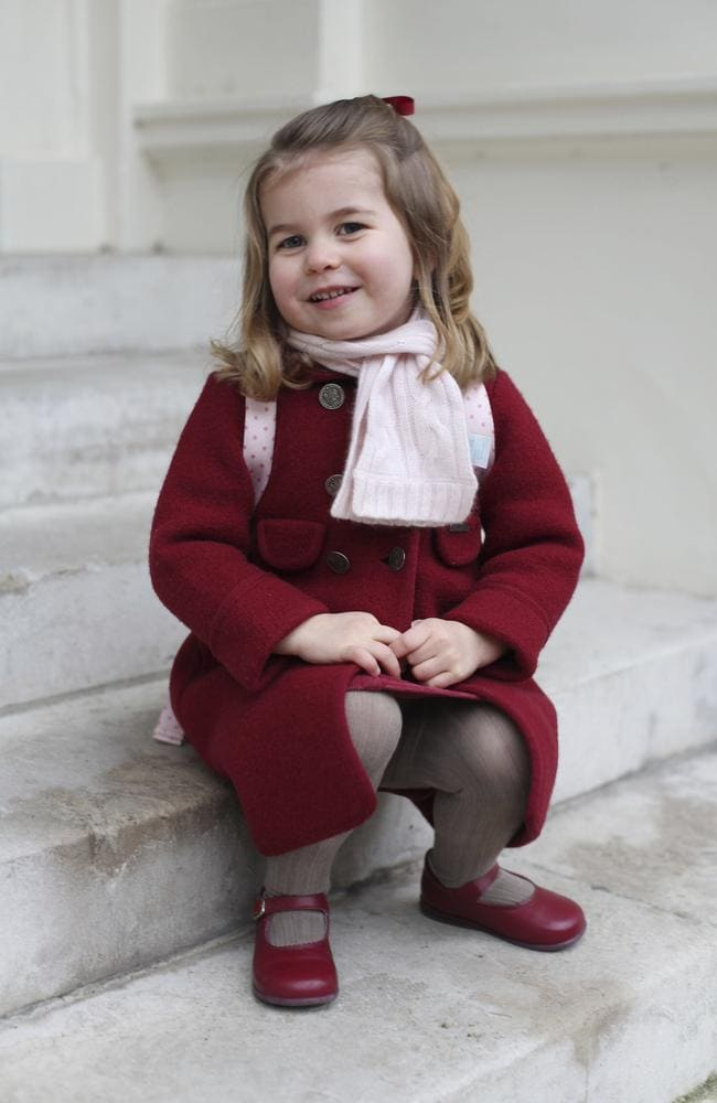 Princess Charlotte is adorable in the photos taken by her proud mum. Picture: Duchess of Cambridge via AP