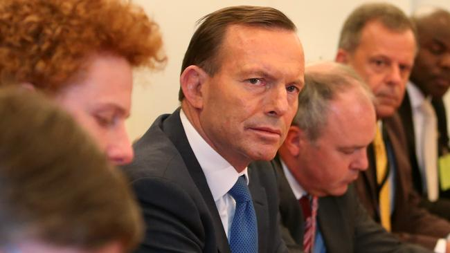 Prime Minister Tony Abbott meeting with ambassadors in Canberra / Picture: Kym Smith