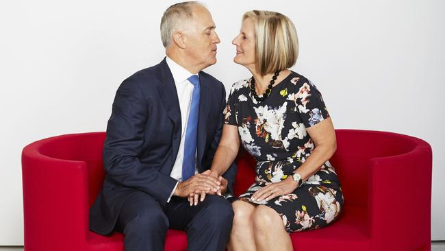 No stranger to publicity ... Malcolm and Lucy Turnbull pose for a Valentine's Day feature for Sunday Style Magazine PHOTO: Ellis Parrinder
