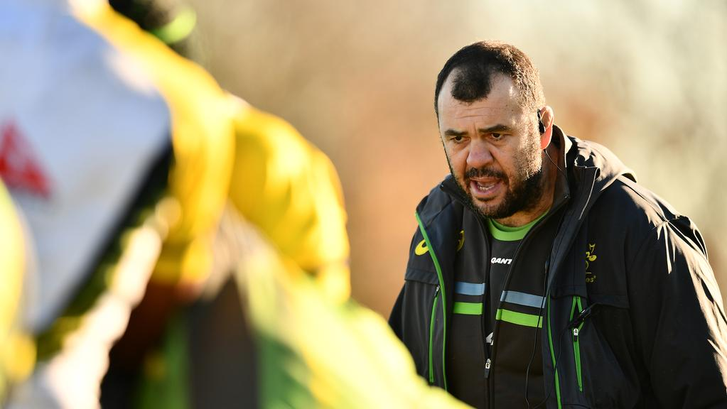 Wallabies coach Michael Cheika has fired up in the countdown to this weekend's Test against England in London. Picture: Getty Images