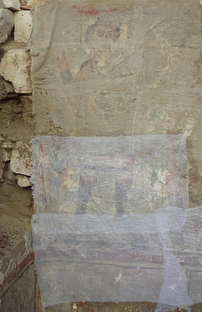 Archaeologists have found what they believe to one of the oldest depictions of Jesus in Egypt. Picture: University of Barcelona