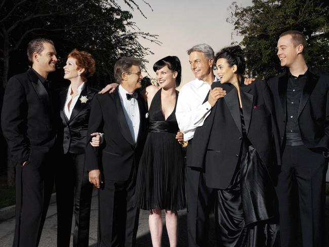 Holly and the NCIS cast. Picture: News Corp