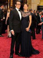Johnny Knoxville and Naomi Nelson on the red carpet at the Oscars 2014. Picture: Getty