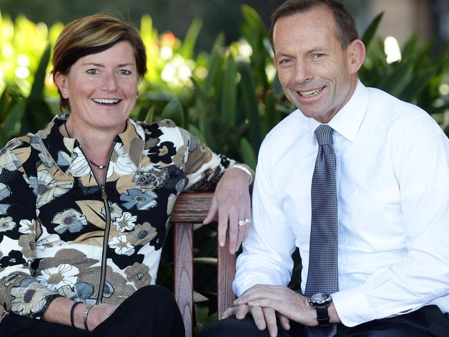 Former Prime Minister Tony Abbott pictured with his sister Christine Forster, who is a same-sex marriage advocate.