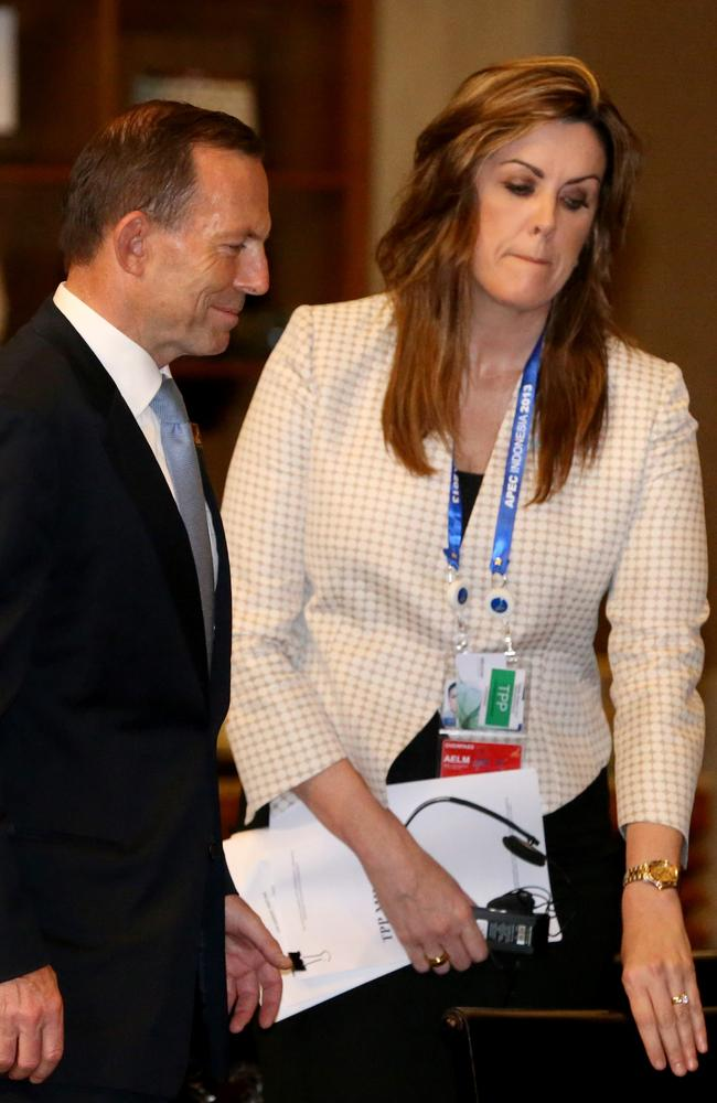 No offence meant ... Peta Cradlin, chief of staff to PM Tony Abbott, and her boss.