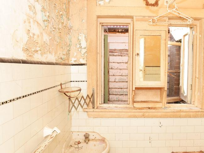 The bathroom needs a total overhaul.