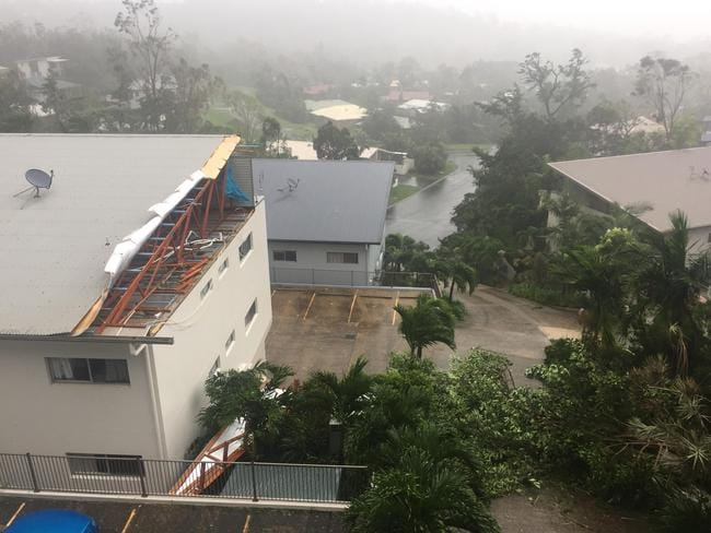 Roofs have been ripped off in Airlie Beach. Picture: Ella Richmond
