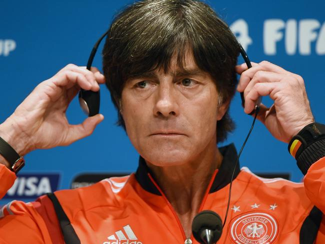 """If I put these headphones on I won't be able to hear about all my team's problems."" OK, Joachim Loew didn't actually say that."