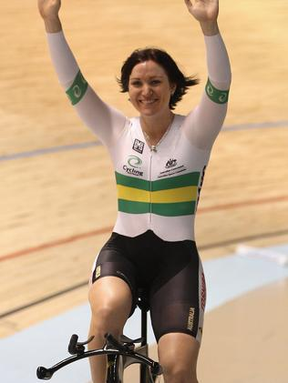 Anna Meares at the Women's 500m Time Trial in 2012.