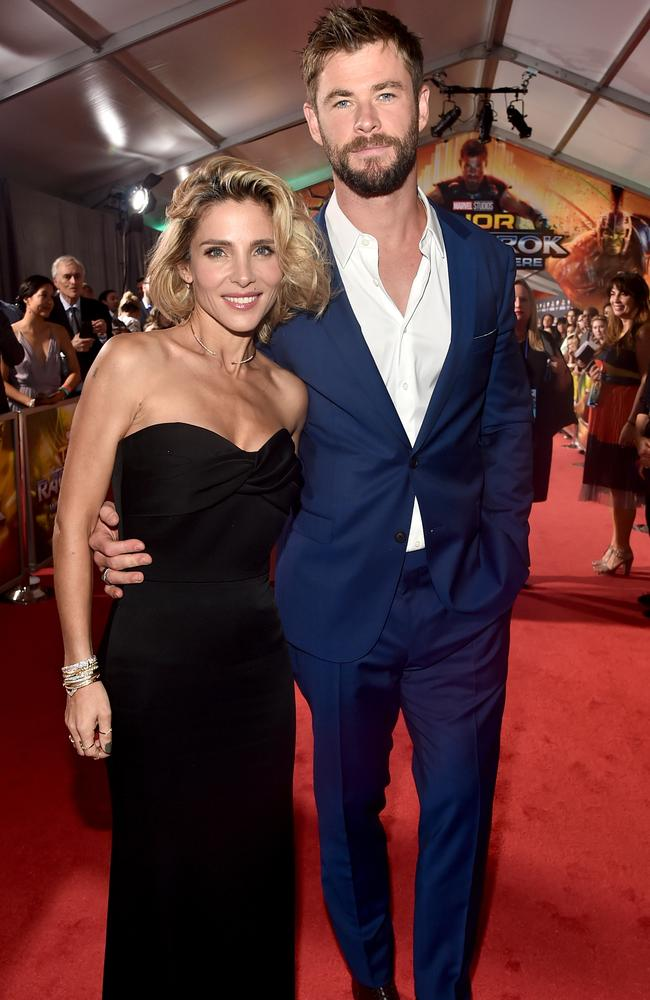 Hollywood's fittest couple, Chris Hemsworth and wife Elsa Pataky. Picture: Alberto E. Rodriguez/Getty Images for Disney