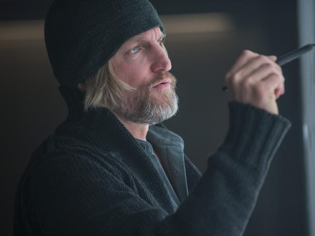 Woody Harrelson as Haymitch Abernathy, in The Hunger Games: Mockingjay - Part 1.