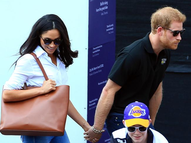 Prince Harry and Meghan Markle have put their love on display. Picture: Vaughn Ridley/Getty Images for the Invictus Games Foundation