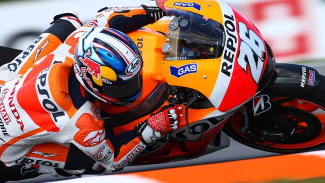 Pedrosa in action at Brno this year.