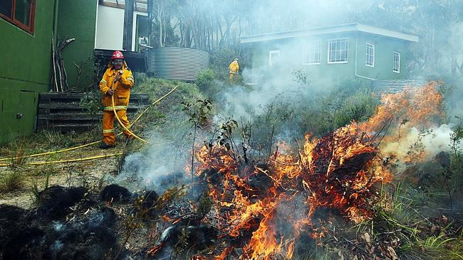 Rural Fire Service Captain Jim Commens doing back-burn and asset prevention. Photo: Sam Mooy