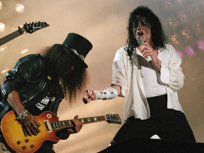 Slash has performed with music's biggest stars, such as Michael Jackson.