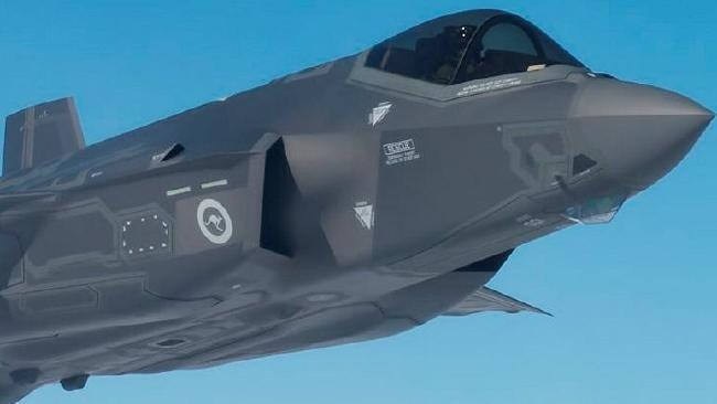 One of Australia's first F-35 Strike Fighters displays its RAAF markings. Losing its ability to fly 'unseen' will leave the fighter vulnerable. Picture: Defence