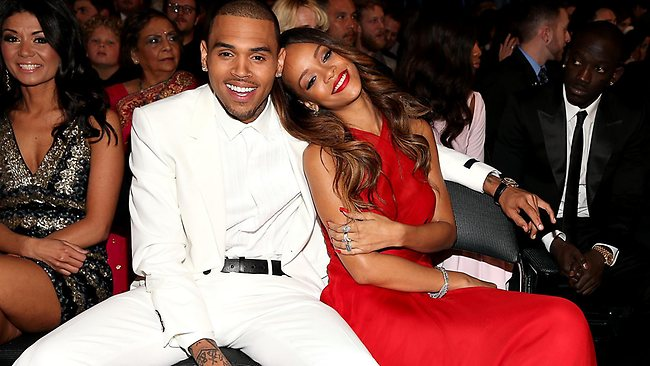 Chris Brown and Rihanna get cosy.