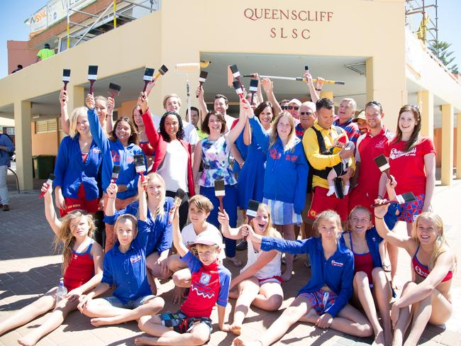 "Youngsters from the Queenscliff Surf Life Saving Club helped out with renovations required for ""Wake Up's"" filming."