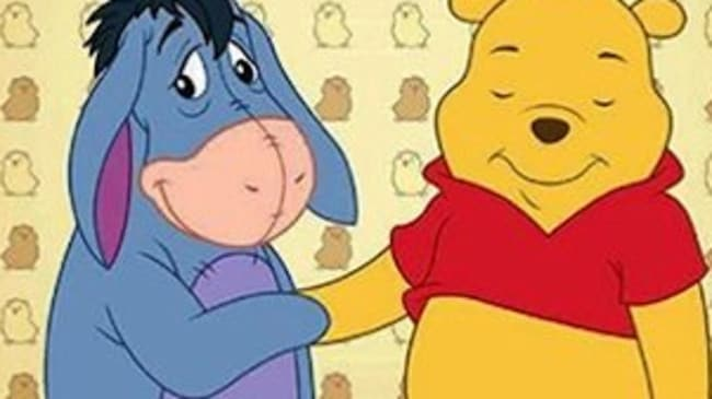 Eeyore and Pooh.