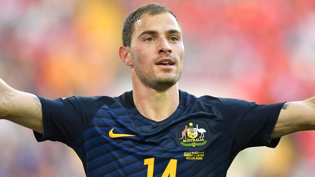 Australia's forward James Troisi.