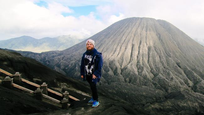 Thomas Brown at Mount Bromo in East Java, Indonesia, in 2014.