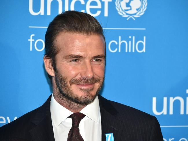 Leaked emails reveal David Beckham initially refused to use his own money to fund his charity and turned down millions of pounds in work to raise money for UNICEF. Picture: Mike Coppola/Getty Images