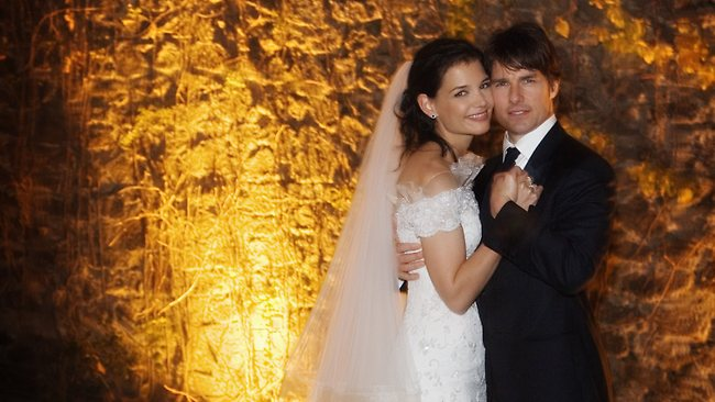 FILE PHOTO: According to reports, actors Tom Cruise and Katie Holmes after five years of marriage are divorcing. BRACCIANO, ITALY - NOVEMBER 18: In this handout photo provided by Robert Evans, Tom Cruise and Katie Holmes pose together at Castello Odescalchi on their wedding day November 18, 2006 in Bracciano, near Rome, Italy. (Photo by Robert Evans/Handout via Getty Images)