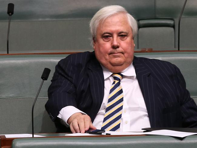 Wrecking ball ... Clive Palmer in Question Time in the House of Representatives Chamber.
