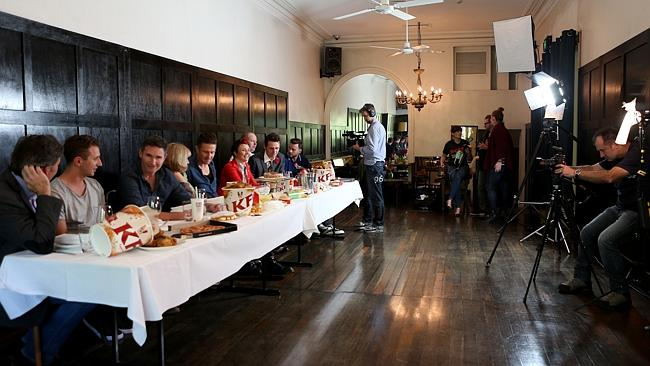 Behind-the-scenes of the Comedy Festival photo at The Melbourne Supper Club.