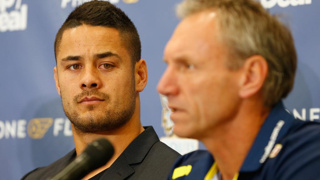 Jarryd Hayne and Neil Henry are in a showdown.