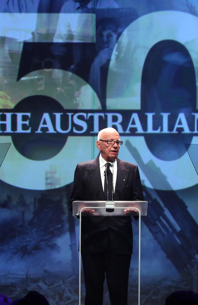 The Australian 50th Celebration .... Rupert Murdoch.