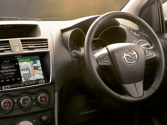 The BT-50 is now equipped with Android Auto and Apple CarPlay connectivity. Picture: Supplied