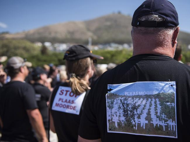 White South African farmers say there has been explosion of violence against their communities in rural areas in recent months. Picture: David Harrison/AFP