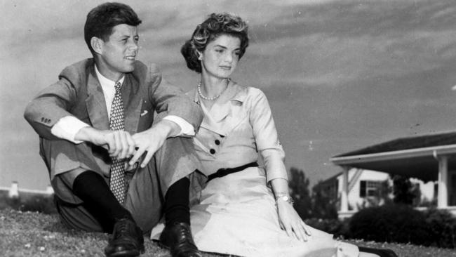 Troubled marriage ... JFK with Jacqueline Onassis in their early married life. Picture: Supplied