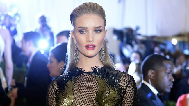 British model Rosie Huntington-Whiteley is rumoured to be close to becoming engaged with action star boyfriend Jason Statham, who is 19 years her senior. Picture: AFP