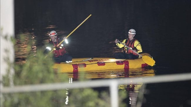 Police search for a six-month-old baby missing in the Logan River. Picture:Adam Armstrong
