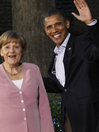 Respected ... German chancellor Angela Merkel is believed to be the US President's second-favourite world leader. Picture: AP