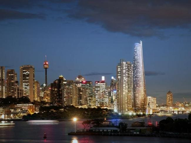 Chinese investors believe Barangaroo is synonymous with luxury, newness and unbeatable views. Picture: Artist's impression Barangaroo skyline.