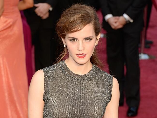 Emma Watson looking glam at the 2014 Oscars.