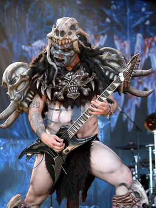 The costumed members of Gwar at the 2014 Soundwave in Adelaide.