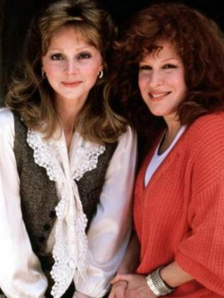 Tough time ... Shelley Long and Bette Midler in Outrageous Fortune. Picture: Supplied
