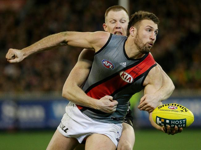 Cale Hooker did his All-Australian hopes no damage with a fine performance in defence. Picture: Colleen Petch.