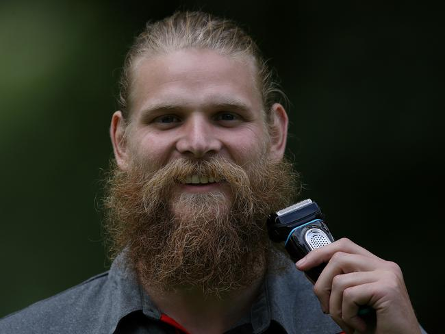 Michael Hurley will shave off his beard on December 5. Picture: Wayne Ludbey