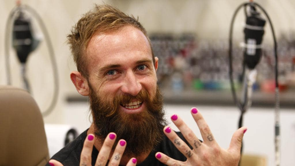 Guys go for nail art as gold coast blokes embrace colourful trend guys go for nail art as gold coast blokes embrace colourful trend prinsesfo Image collections
