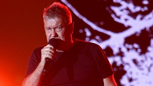 Jimmy Barnes performing at the 2016 Australian of the Year awards ceremony at Parliament