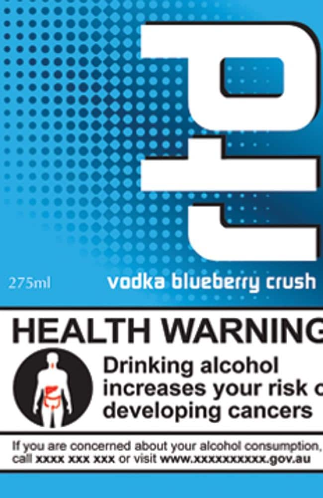 Plain ... the proposed labels highlight the health risks of drinking.
