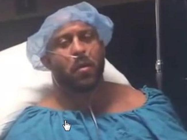 WWE star Ryback delivered an epic speech from his hospital bed.