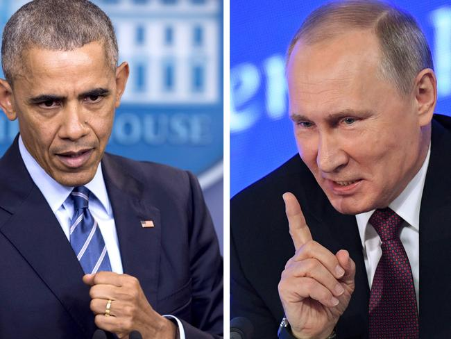 US President Barack Obama has issued tough new sanctions on Vladimir Putin's country. Picture: AFP