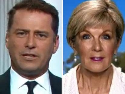 Karl Stefanovic vs Julie Bishop